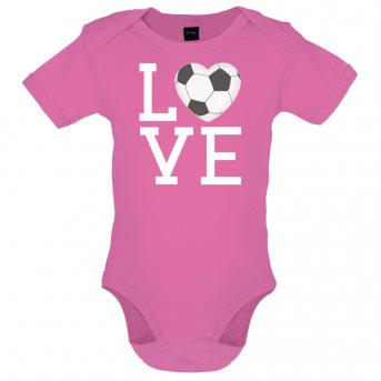 i love football bodysuit pink