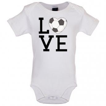 i love football bodysuit white