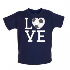 i love football t-shirt navy