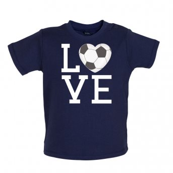 i love football t-shirt navy