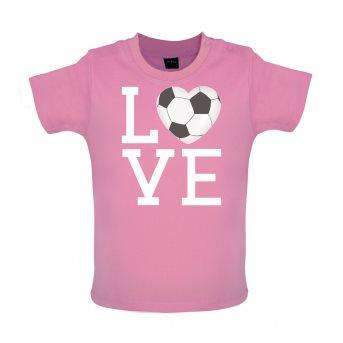 i love football t-shirt pink