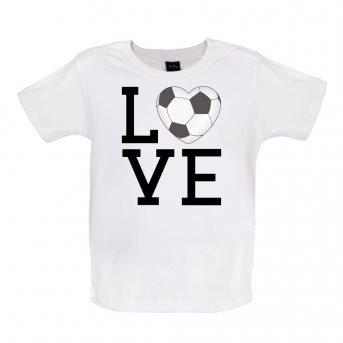 i love football t-shirt white