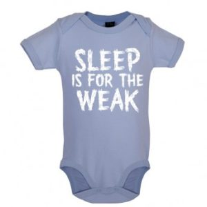 sleep baby bodysuit blue