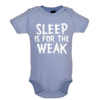 sleep baby bodysuit blue