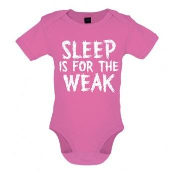 sleep baby bodysuit pink