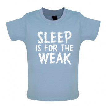 sleep baby t-shirt blue