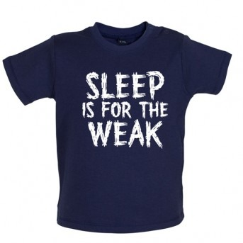 sleep baby t-shirt navy