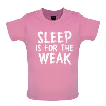 sleep baby t-shirt pink