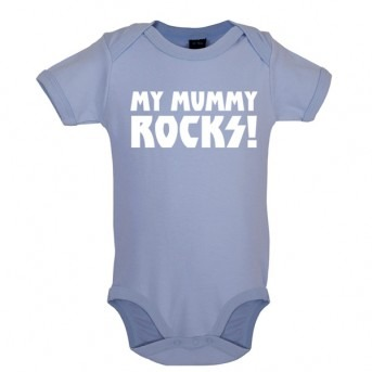 my mummy rocks baby and toddler vest blue
