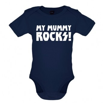 my mummy rocks baby and toddler vest navy
