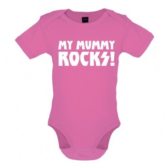 my mummy rocks baby and toddler vest pink