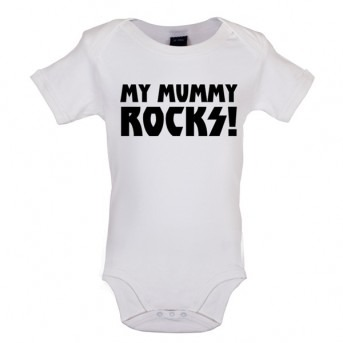 my mummy rocks baby and toddler vest white
