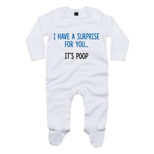 I have a surprise poo baby sleepsuit