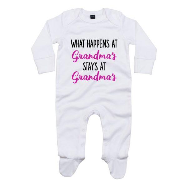 What happens at grandmas baby sleepsuit