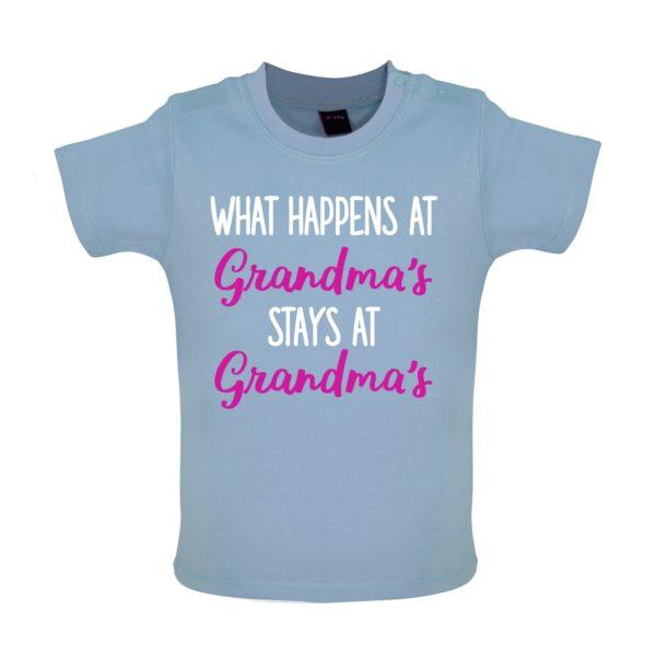 What happens at grandmas baby tshirt blue
