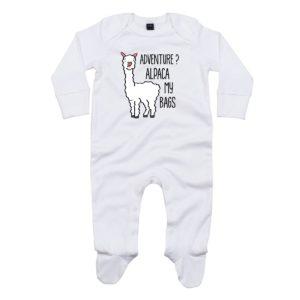 alpaca baby sleepsuit