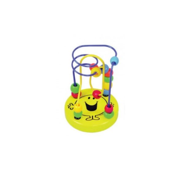 Mr-Happy bead maze, wooden toy