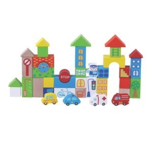 Wooden toy, 40pcs Traffic Building blocks 1