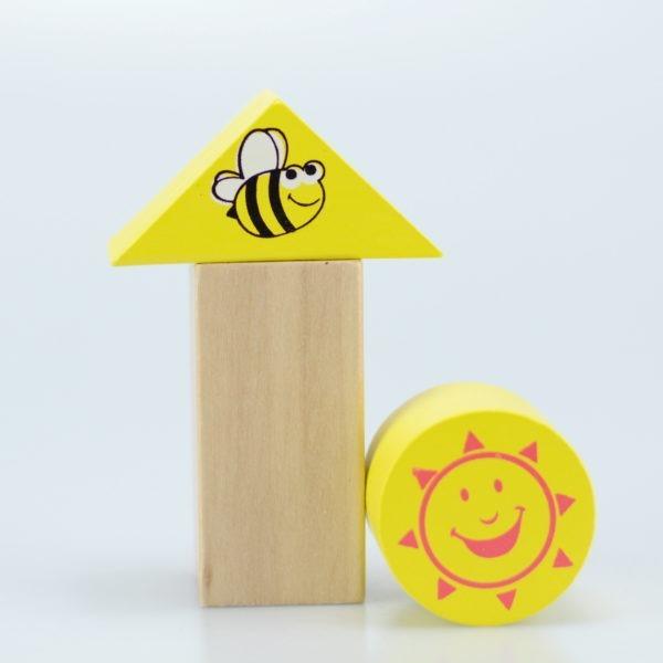 Wooden toy, 50pcs farm building blocks 4