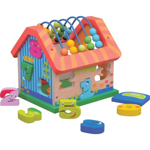 Wooden toy, Activity house 1