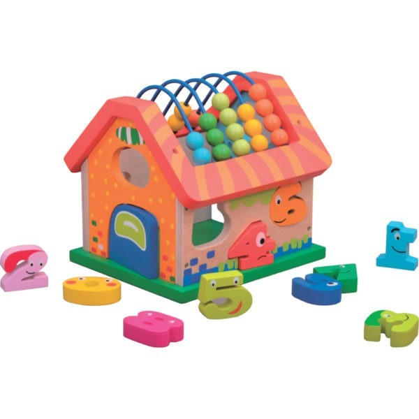 Wooden toy, Activity house 3