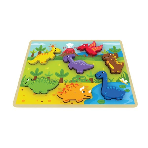 Wooden toy, chunky dinosaur puzzle 1