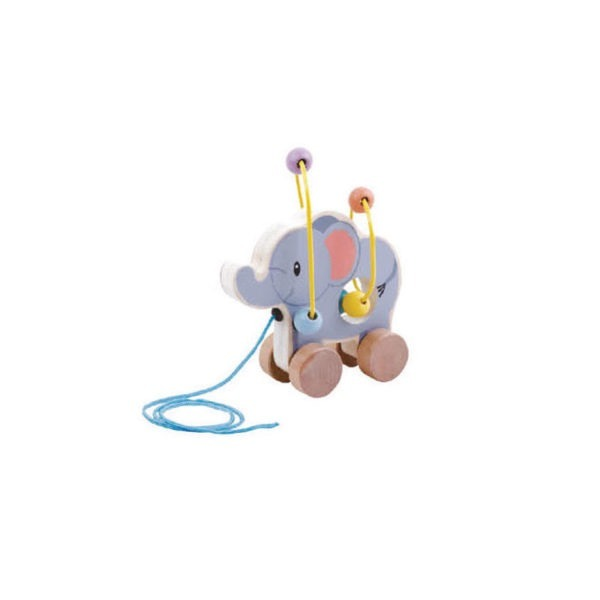 Wooden toys, studio circus, pastel range, Elephant bead coaster 1