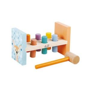 Wooden toys, studio circus, pastel range, hammer bench 1