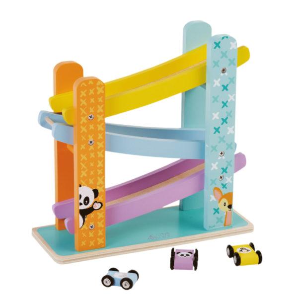 Wooden toys, studio circus, pastel range, ramp racer 1