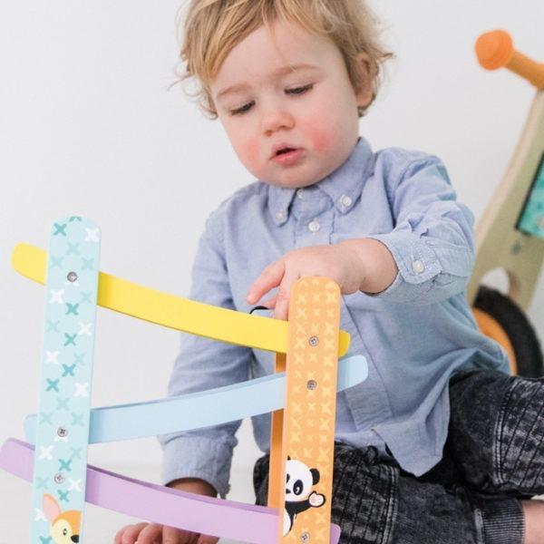 Wooden toys, studio circus, pastel range, ramp racer 2