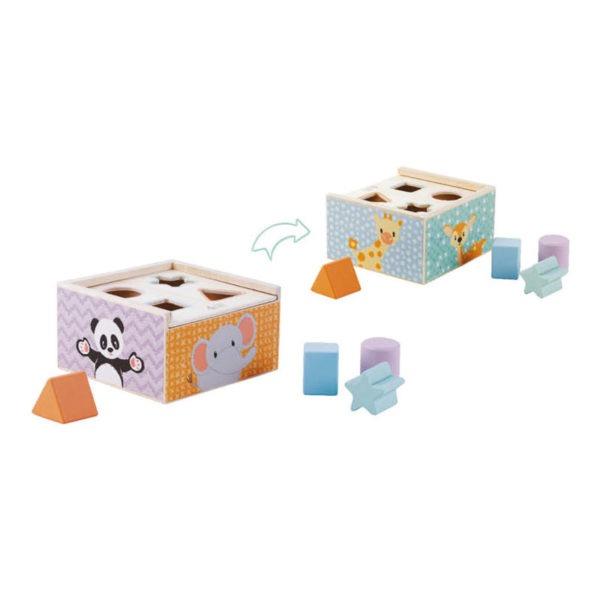 Wooden toys, studio circus, pastel range, shape sorter 1