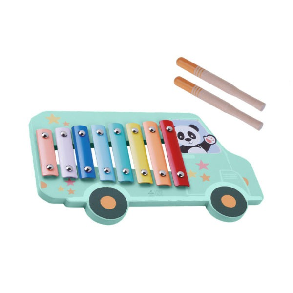 Wooden toys, studio circus, pastel range, xylophone happy bus 1
