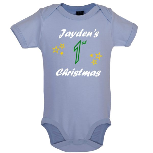 Dusty Blue bodysuit - Jayden's 1st Christmas