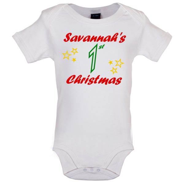 White bodysuit - Savannah's 1st Christmas