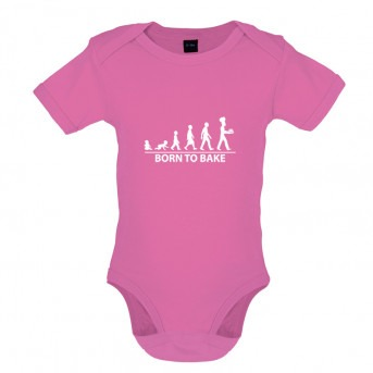 Born to Bake, Baby and Toddler Bodysuit, Bubblegum Pink