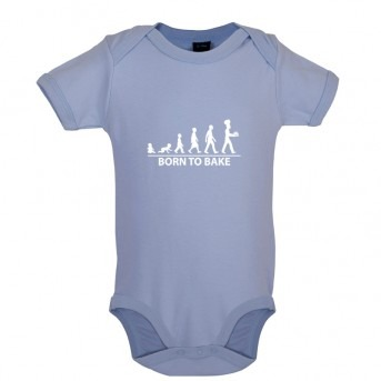 Born to Bake, Baby and Toddler Bodysuit, Dusty Blue