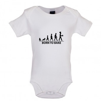 Born to Bake, Baby and Toddler Bodysuit, White