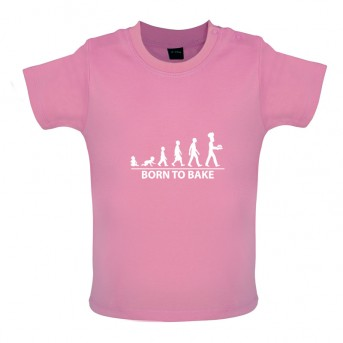 Born to Bake, Baby and Toddler T-shirt, Bubblegum Pink