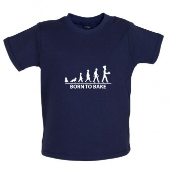 Born to Bake, Baby and Toddler T-shirt, Dusty Blue
