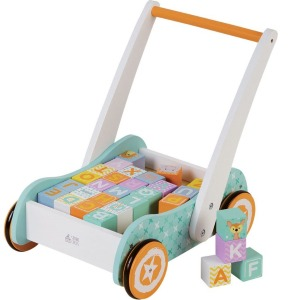 Wooden Toys Baby walker with Blocks 1