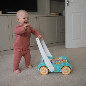 Wooden Toys Baby walker with Blocks 2
