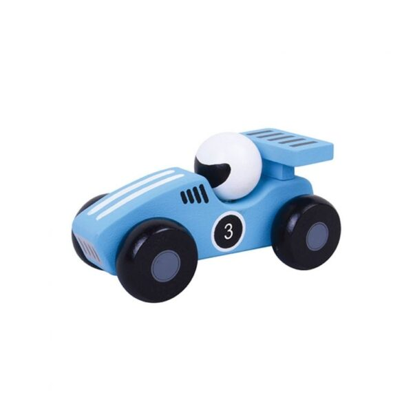 Wooden push along toy racing cars 2