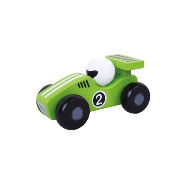 Wooden push along toy racing cars 3