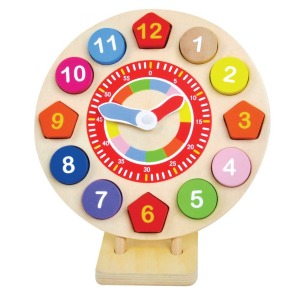 Wooden toy clock puzzle 1