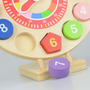 Wooden toy clock puzzle 3