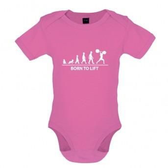 Born to Lift Baby Bodysuit, Bubblegum Pink