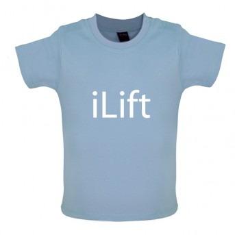 ILift baby Tshirt, Dusty Blue