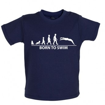 Born To Swim Baby T-Shirt, Nautical Navy